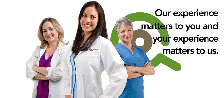 At ABQ Health Partners Women's Health our experience matters to you and your experience matters to us.
