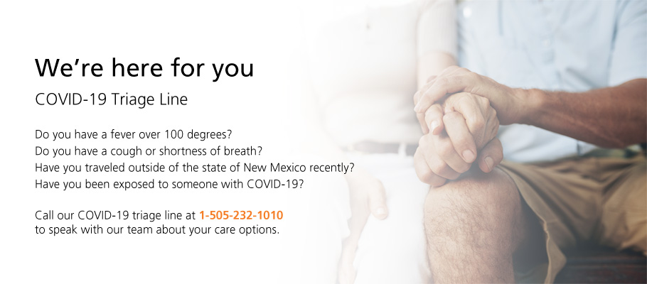 <p>We're here for you</p>