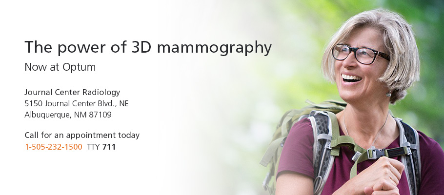 The Power of 3D Mammography...Now at Optum Journal Center Radiology