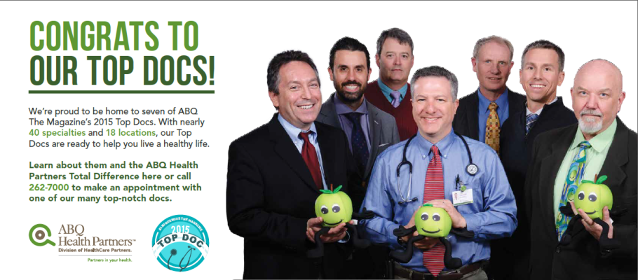 "<p align=""center""><strong>ABQ HEALTH PARTNERS AWARDED SEVEN WITH 'TOP DOCS' HONORS</strong></p>"